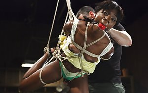 Ebony BDSM sex
